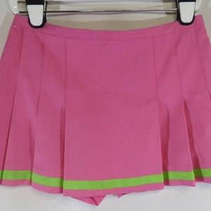 Lilly Pulitzer Maureen Pink Pleated Tennis Skort 6
